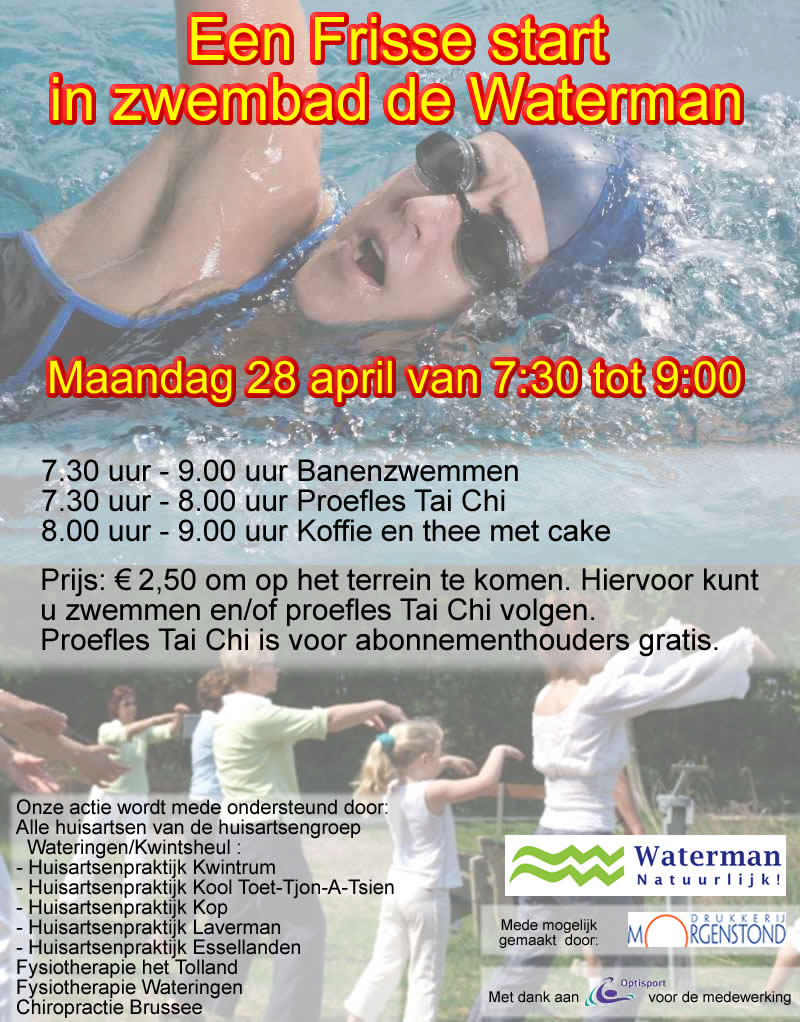 28 april 2008: Waterman Natuurlijk! organiseert een Frisse Start in de Waterman